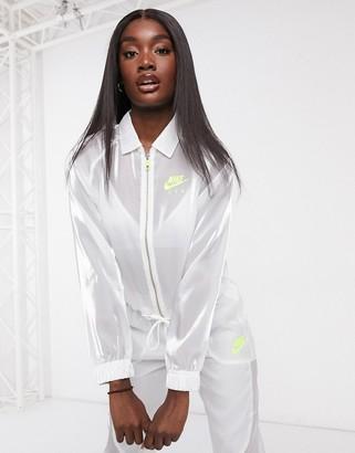 Nike translucent jacket in white