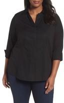 Foxcroft Plus Size Women's Taylor Free Fit Stretch Blouse