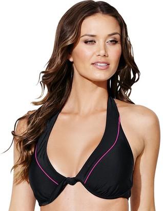 RESORT Minimiser Bikini Top. Sizes 38 E & F-38-F Black