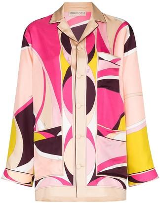 Emilio Pucci x Browns 50 abstract-print silk shirt