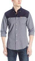 Farah Men's Suffolk Cas Long Sleeve Button Down Woven Shirt with Pocket