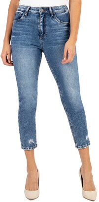 KUT from the Kloth Naomi Girlfriend High Rise Straight Leg Capri Jeans