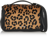 McQ by Alexander McQueen Riot mini leopard-print calf hair and leather shoulder bag