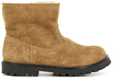 Pom D'Api Fur-Lined Suede Zip-Up Roadster Boots