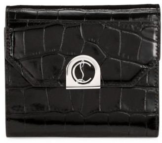 Christian Louboutin Elisa Croc-Embossed Leather Wallet