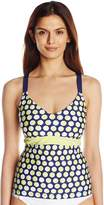 Jag Women's Shadow Dot D DD-Cup Underwire Convertible Back Tankini