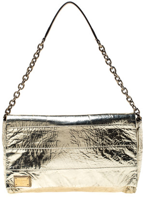 Dolce & Gabbana Metallic Gold Leather Miss Martini Shoulder Bag