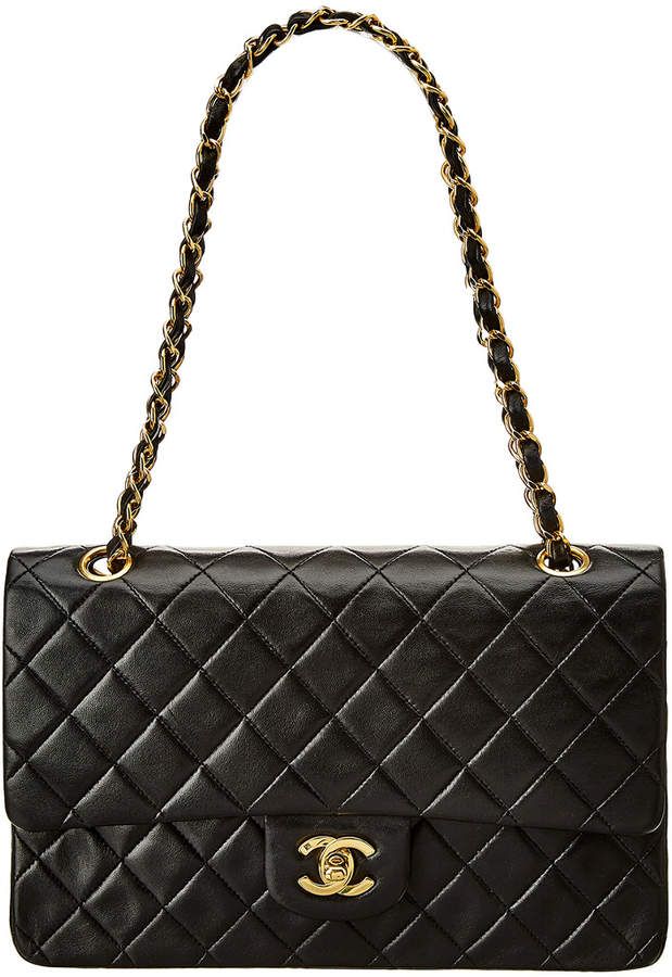 Chanel Black Quilted Lambskin Leather 2.55 Reissue 226 Double Flap Bag
