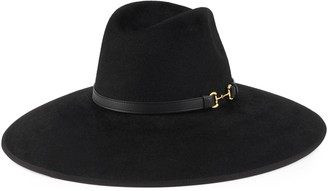 Gucci Felt wide brim hat with Horsebit