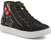 Steve Madden Code High Top Zip Sneaker (Little Kid & Big Kid)