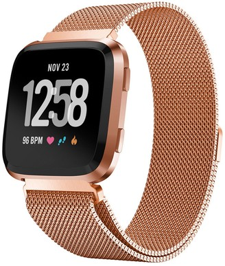 Posh Tech Small Stainless Steel Band for Fitbit Versa - Rose Gold