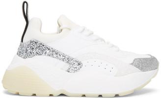 Stella McCartney White Glitter Eclypse Sneakers