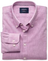 Extra Slim Fit Pink Chambray Cotton Formal Shirt Size Medium
