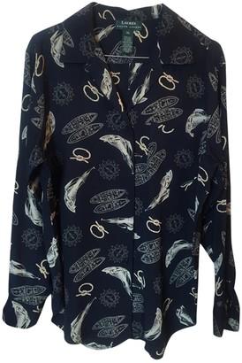 Lauren Ralph Lauren Navy Silk Top for Women