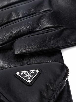 Prada Triangle Logo Pouch Gloves