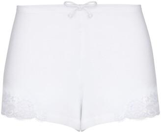 La Perla Lace-Trim Cotton Shorts