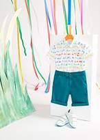 Paul Smith Boys' 8+ Years White 'Cyclist' Print Shirt