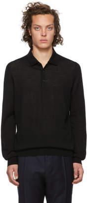 HUGO Black San Giovanni Long Sleeve Polo
