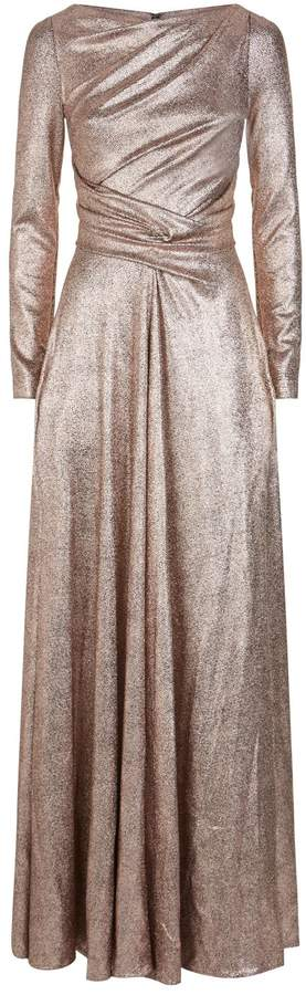 Talbot Runhof Twisted Metallic Gown