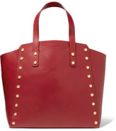 Sandro Studded Leather Tote