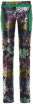 Marco De Vincenzo Slim-leg jacquard trousers
