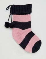 Jack Wills Stripe Chunky Knit Stocking