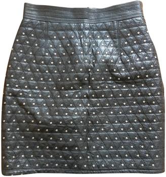 Gianni Versace Black Leather Skirts