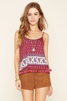 Forever 21 FOREVER 21+ Abstract Paisley Tassel Cami