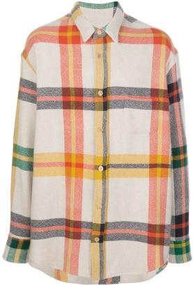 The Elder Statesman Oversized Tartan Shirt