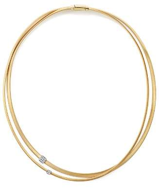 Marco Bicego 18K Yellow Gold Masai Two Strand Diamond Necklace, 17""