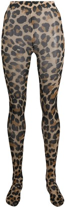 Junya Watanabe Leopard-Print High-Waisted Tights