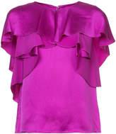 Monique Lhuillier ruffle blouse