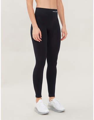 Perfect Moment Logo-print skinny high-rise stretch-knit leggings