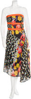 Peter Pilotto Printed Strapless Dress