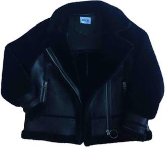 Ducie Black Shearling Coat for Women