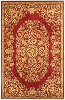 Safavieh Heritage Collection HG640C Handmade Red Wool Runner, 2 feet 3 inches by 10 feet