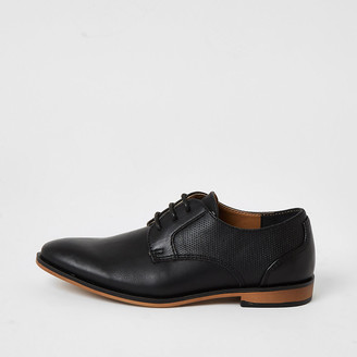 River Island Boys black lace-up pointed toe shoes