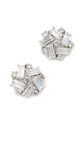 Kenneth Jay Lane Crystal Button Earrings