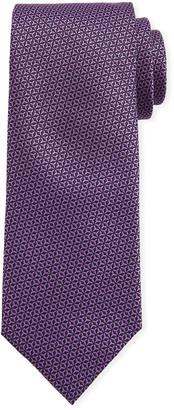 Canali Men's Star-Weave Silk Tie, Purple