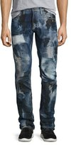 PRPS Pixel Distressed Patchwork Jeans, Dark Indigo