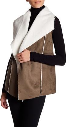 Susina Faux Shearling & Faux Suede Vest (Regular & Petite)