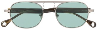 Études Candidate round frame sunglasses