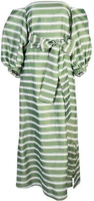 Lisa Marie Fernandez striped off shoulder dress