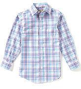 Class Club Gold Label Big Boys 8-20 Long-Sleeve Textured Woven Multi Check Shirt