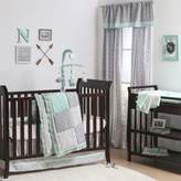 The Peanut Shell Woodland Crib Bedding Collection in Grey/Mint