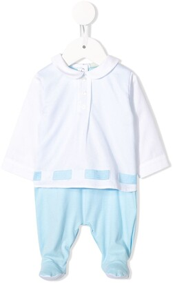 Fendi Kids FF logo ribbon pyjamas