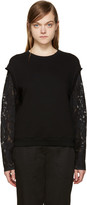 3.1 Phillip Lim Black Lace Sleeve Pullover