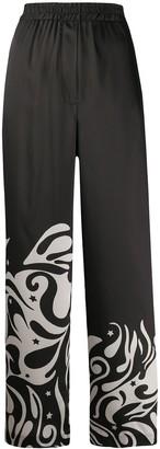 Pinko Wide-Leg Patterned Trousers