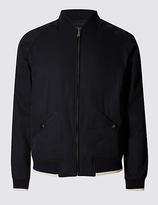 Limited Edition Pure Cotton Textured Bomber Jacket