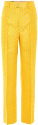 Gucci High-rise lame pants